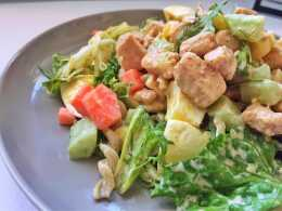 巨好吃雞胸肉沙拉,低卡飽腹健康營養減肥餐