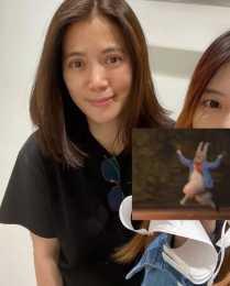 網友曬袁詠儀合影,原相機的素顏鬆弛發黃,但比普通人50歲漂亮!